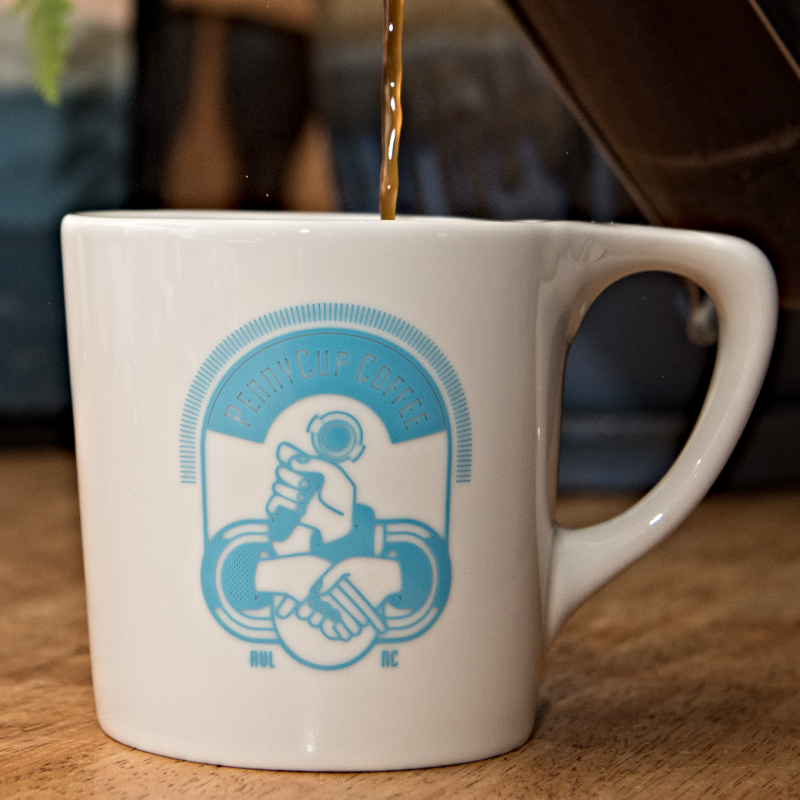 PennyCup coffee mug in Asheville, NC